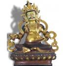 Virupaksa Digpala sitzend 20 cm teilfeuervergoldet