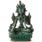 Weiße Tara Statue 15,5 cm Resin türkis