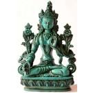 Weiße Tara Statue 20 cm Resin türkis
