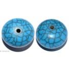 Resin-Perlen türkis 25mm - 2 Perlen