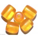 Resin-Perlen amber 14mm - 8 Perlen