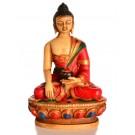 Akshobhya  / Shakyamuni 11,5 cm Buddha Statue Resin bemalt 2