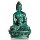 Akshobhya / Shakyamuni 11,5 cm Buddha Statue Resin türkis