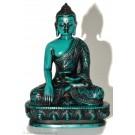 Akshobhya / Shakyamuni 11 cm Buddha Statue Resin türkis