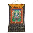 Thangka - Vajrasattva - Dorje Sempa 72 x 112 cm