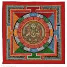 Yantra Thangka - Grüne Tara 34 x 34 cm