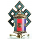 Tisch- und Wandgebetsmühle Shrivasta türkis
