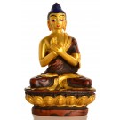 Vairocana 11,5cm Resin golden Statue
