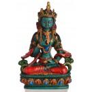 Vajrasattva - Dorje Sempa Buddha Figur  bemalt 20 cm Resin türkis