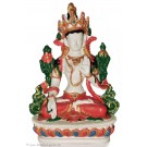 Weiße Tara Statue 15,5 cm Resin weiß bemalt